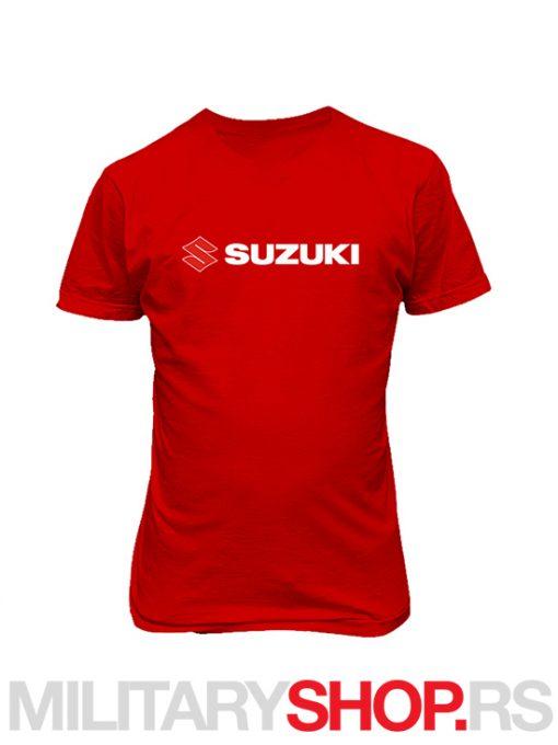 Crvena majica Suzuki logo