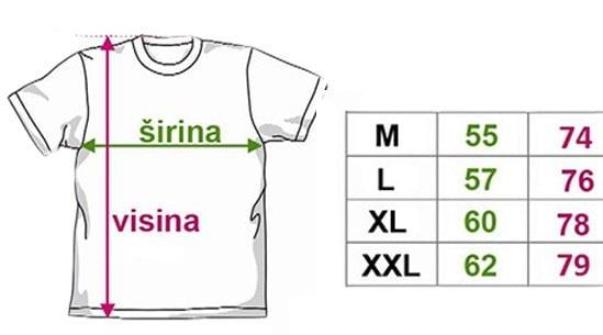 Majice - veličine