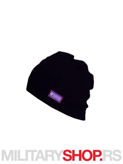 Crna zimska kapa od pamuka YAMAHA vez