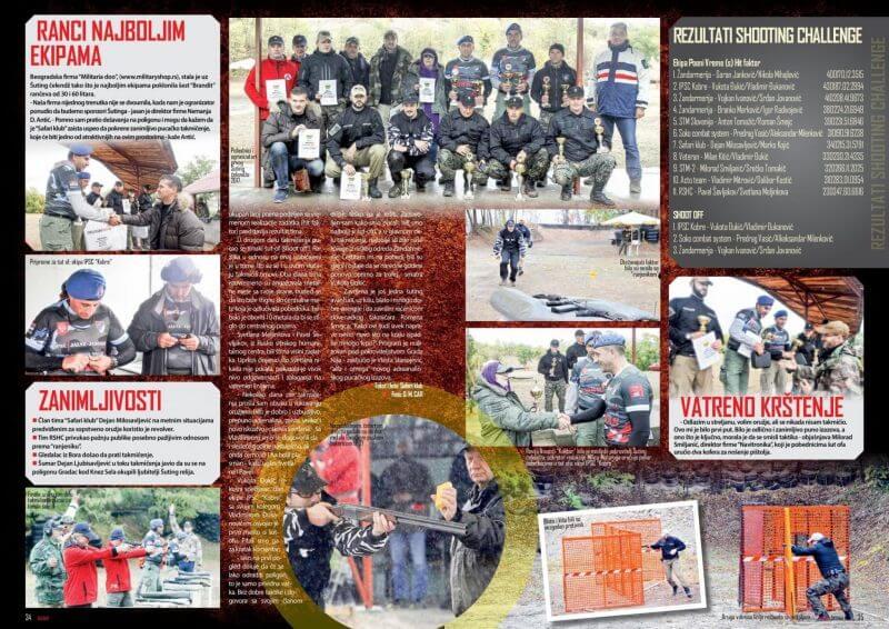 Military Shop u novom broju časopisa Kalibar oktobar 2017