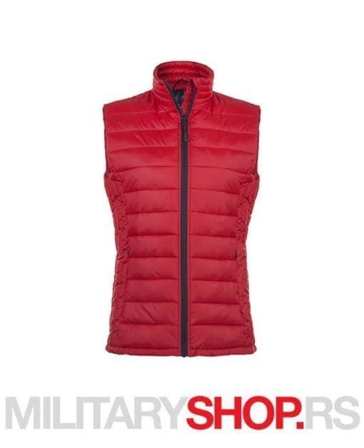 Crveni zenski prsluk za zimu