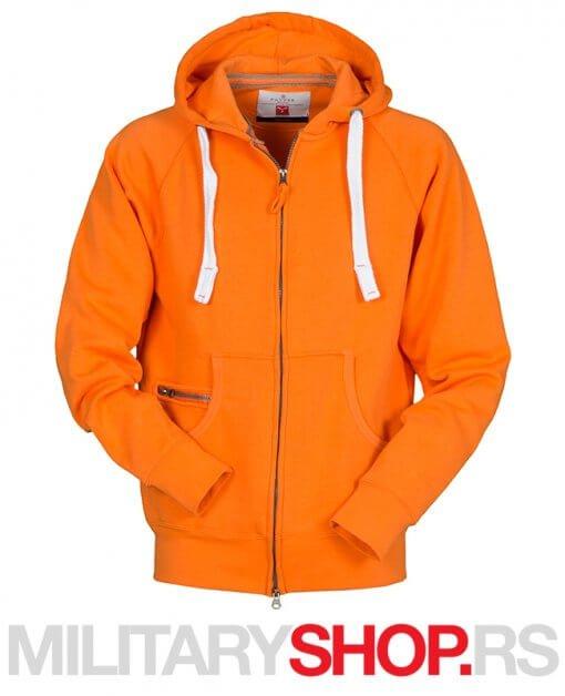 Dalas dukserica sa kapuljacom narandzaste boje