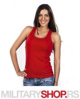 Sportska zenska crvena majica od pamuka