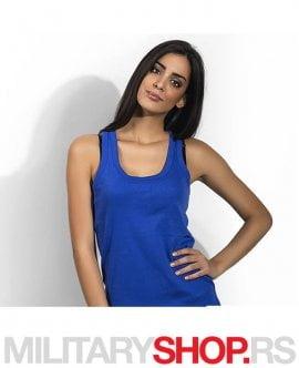 Pamucna plava majica za zene