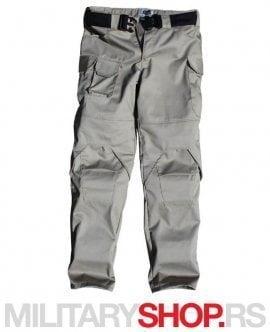 Moto pantalone sa ojačanjima bež boja