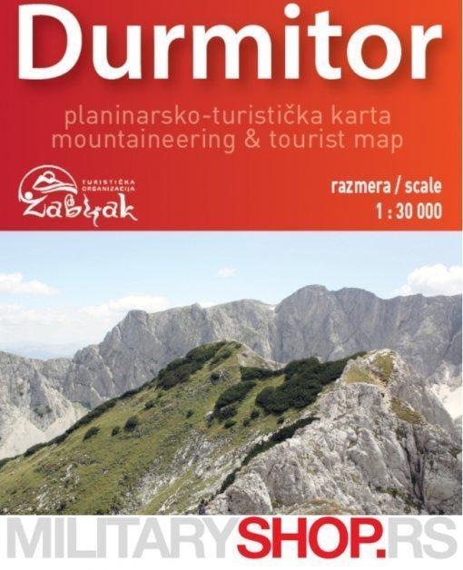Turističko planinarska mapa Durmitor