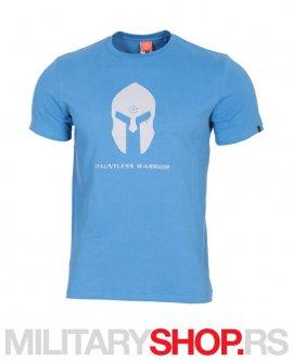 Plava pamucna majica Spartan Helmet