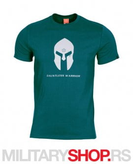 Petrol plava majica logo Spartan Helmet