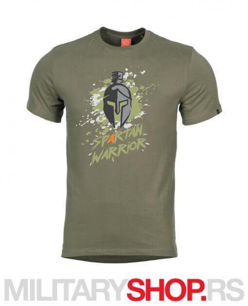 Spartan Warrior Pentagon maslinasto zelena majica