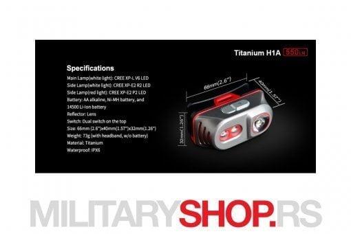 Lampa za glavu Klarus H1A Titanium