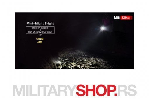 Klarus Mi6 lampa crne boje
