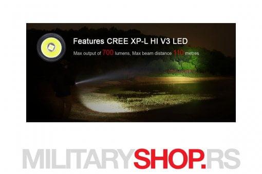 Crna lampa 700 lumena Klarus Mi7