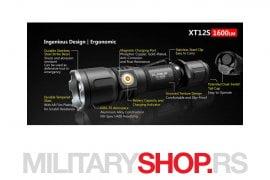 Komplet Klarus XT12S takticka lampa