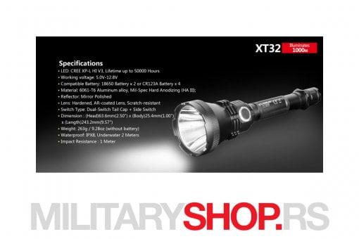 Lovacki komplet Lampa Klarus XT32