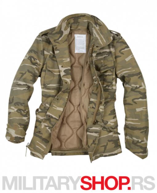 Maskirna vojna jakna sa uloškom Surplus M65 desertlight camo