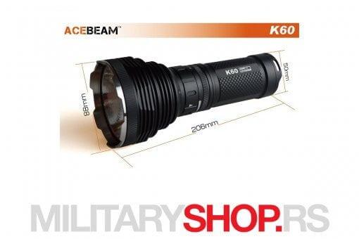 Acebeam K60 Lampa domet 704 metra
