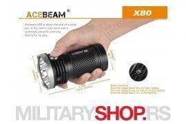 AceBeam X80 Lampa sa 19 LED dioda