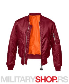 Brandit MA1 pilotska jakna bordo boja