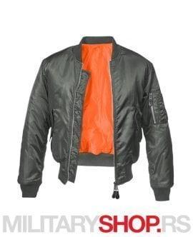 Fajerka siva MA1 Brandit pilot jakna