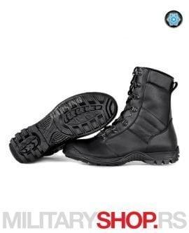 Ruske kožne čizme crne boje HARPY FLEECE Garsing