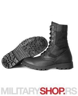 Crne taktičke čizme od kože i Cordure Garsing Rusija