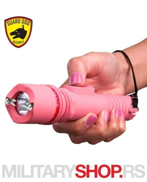 Elektrošoker za samoodbranu Guard Dog Inferno Pink