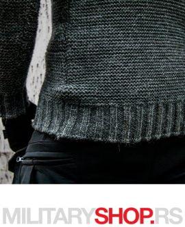 Sivi džemper sa kapuljačom