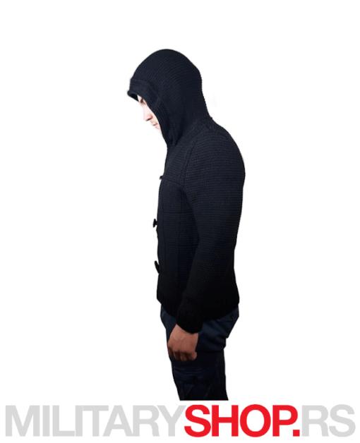 Džemper Assassin crni sa kapuljačom