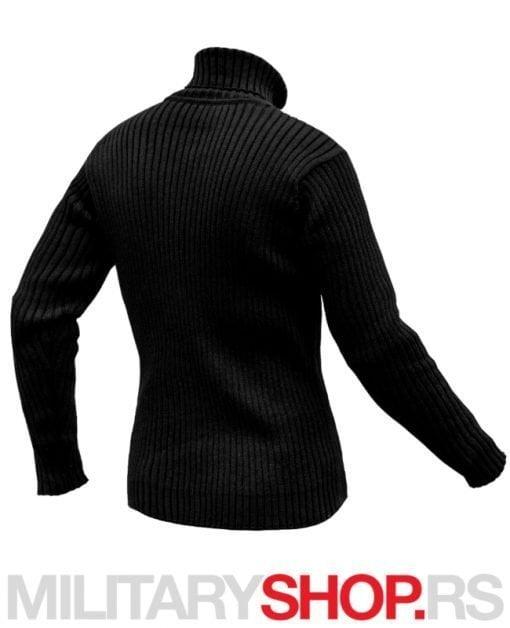 Crni pulover džemper sa visokom kragnom