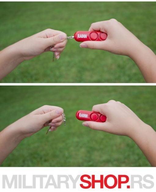 Crveni lični alarm za samoodbranu Sabre RED