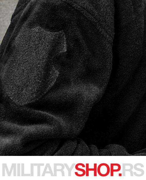 Zimski duks od flisa crna boja