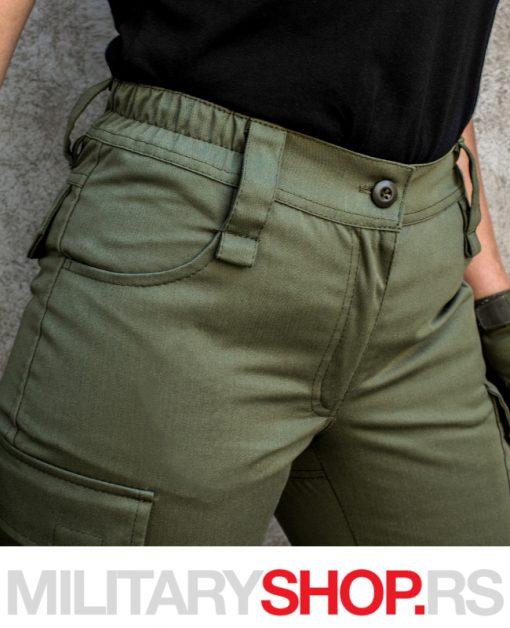 Maslinasto zelene vojničke pantalone Pantera
