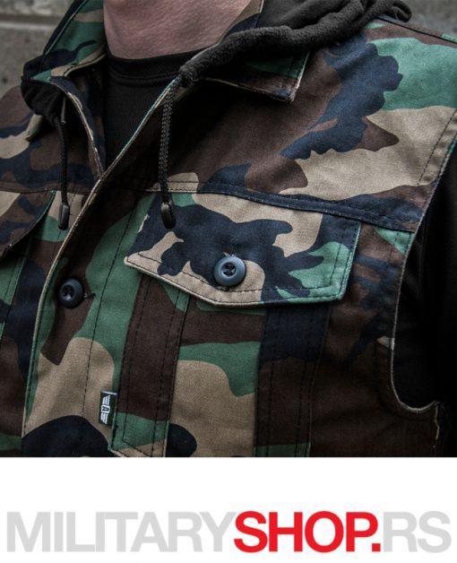 Vojni letnji prsluk Woodland maskirna šara ARMOLINE