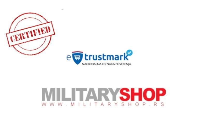 MILITARY SHOP - Sertifikat ETRUSTMARK za E-Komerc