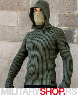 Stalker maslinasto zeleni džemper sa kapuljačom