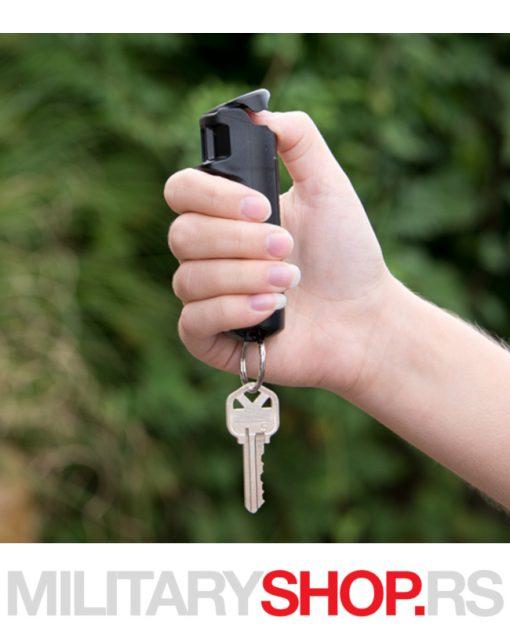 Sabre peper sprej dizajn Finger Grip