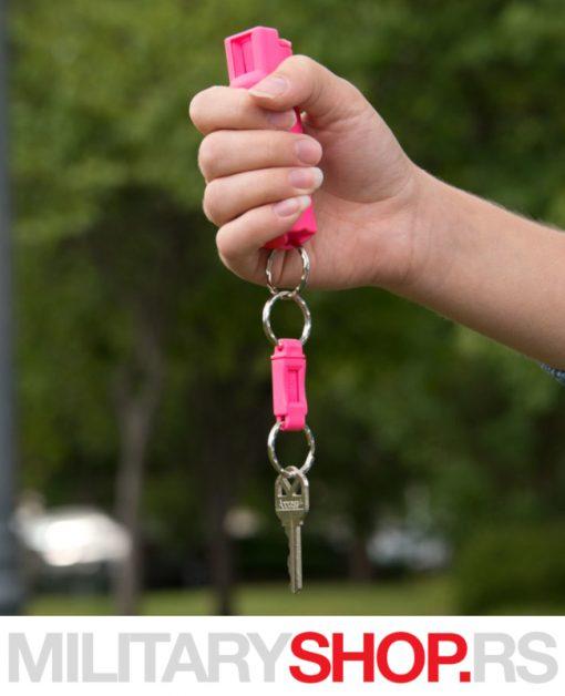 Biber sprej privezak sa prstenom za brzo otpuštanje Sabre