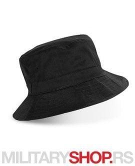 Crni šešir od brušenog pamuka RIO