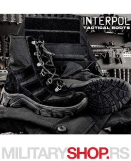 Ženska taktička crna čizma INTERPOL