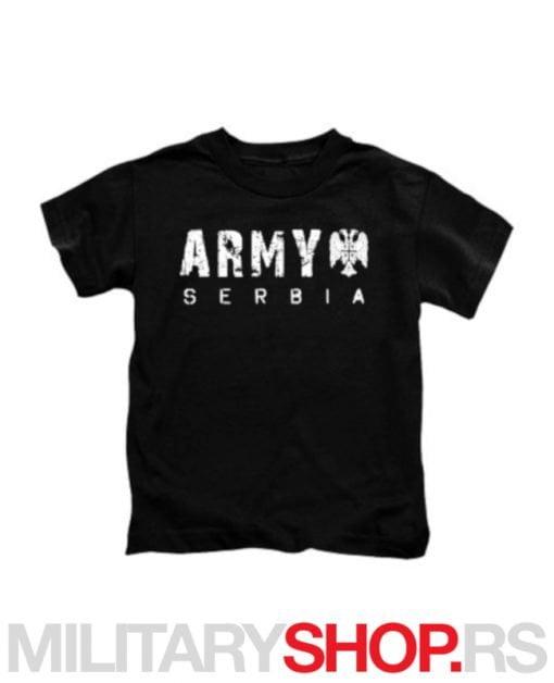 Crna majica sa logom Army Serbia