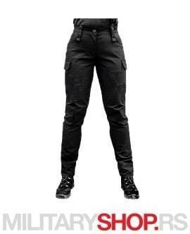 Pantera ženske Rip Stop crne pantalone