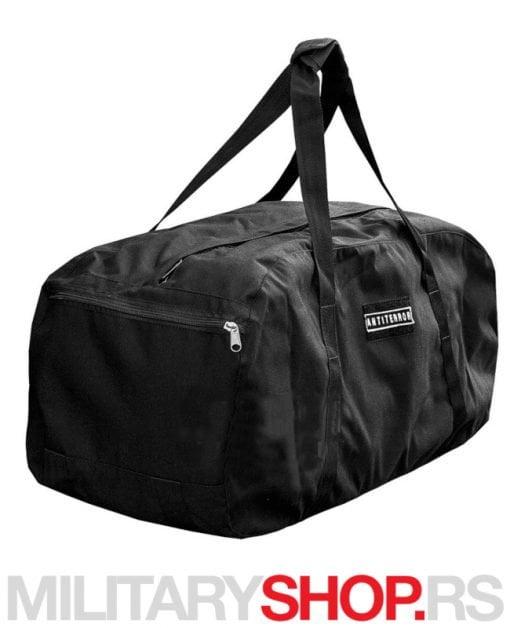 ANTITERROR Vojnička torba ranac od 80 L - crna boja