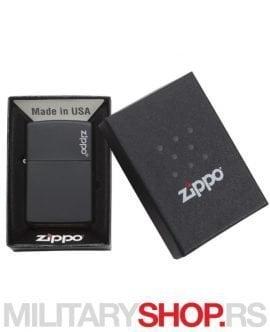 Zippo crni mat sa logom