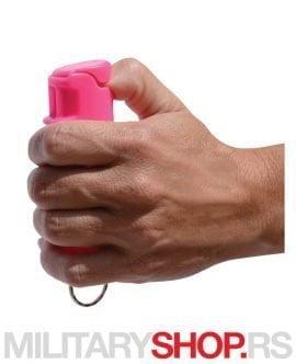 RUGER biber gel privezak roze boja