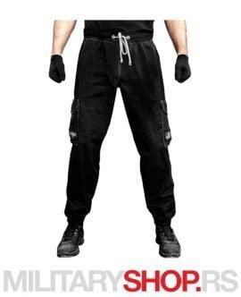 PUNISHER crne sportske pantalone