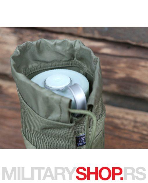 Zeleni resursni dodatak za nošenje flaša termosa Brandit Bottle Holder I