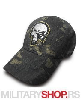 Maskirni kačket Armoline PUNISHER Black Multicam