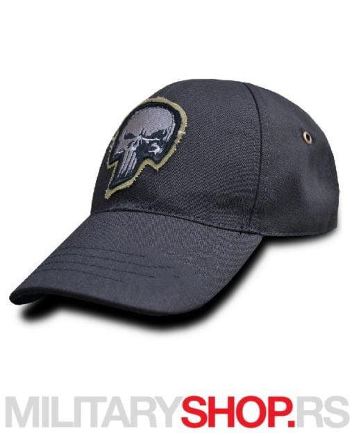 PUNISHER logo kačket crne boje