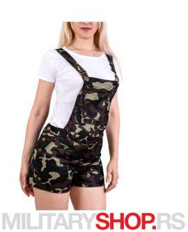 Kratki ženski military kombinezon Woodland