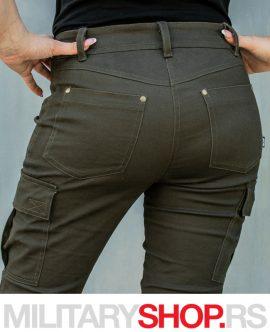 Ženske maslinasto zelene farmerke Armoline Forsage
